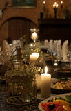 Romantic dinner table Royalty Free Stock Photography