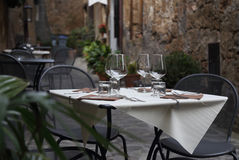Romantic dinner and tableware Stock Images