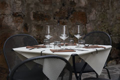 Romantic dinner and tableware Royalty Free Stock Image