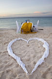Romantic Dinner for Two at the Beach Royalty Free Stock Images