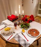 Romantic dinner for two by candlelight in Bern, Switzerland royalty free stock image