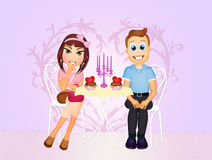 Romantic dinner for two Royalty Free Stock Photography