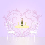 Romantic dinner for two Royalty Free Stock Photos