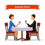 Romantic dinner for two Royalty Free Stock Image