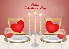 Romantic dinner for Valentines day Royalty Free Stock Photos