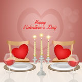 Romantic dinner for Valentines day Royalty Free Stock Image