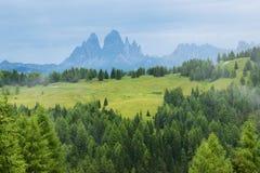 Romantic dolomiti landscape Stock Photos