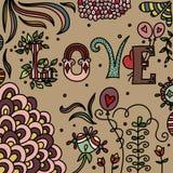 Romantic doodle Stock Image