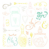 Romantic Doodle Bundle Royalty Free Stock Photos