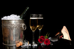Romantic Drinks Arrangement Stock Images