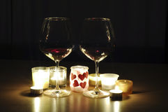 Romantic drinks Stock Images