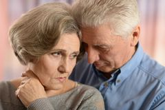Romantic elderly couple Royalty Free Stock Photo