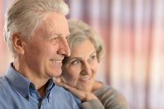 Romantic elderly couple Royalty Free Stock Photography