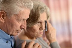 Romantic elderly couple Royalty Free Stock Photography