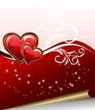 Romantic elegance background with heart Royalty Free Stock Images