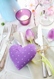 Romantic Elegant Place Setting Royalty Free Stock Image