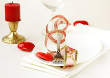 Romantic and elegant table setting Royalty Free Stock Photography