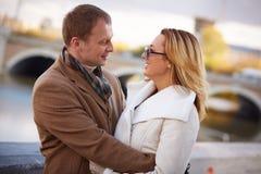Romantic embrace Stock Images