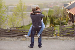 Romantic Embrance Stock Images