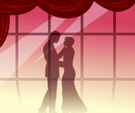 Romantic encounter Royalty Free Stock Image