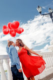 Romantic engagement Stock Images