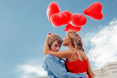 Romantic engagement Stock Photography