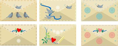 Romantic envelopes Stock Photo