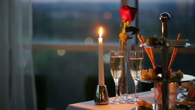 Romantic Evening in Cafe stock video