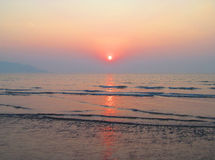 Romantic evening. This is photo of sunset at Revdanda beach,India royalty free stock photos