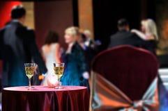 Romantic evening in restaurant Stock Photo