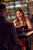 Romantic evening in restaurant Royalty Free Stock Image