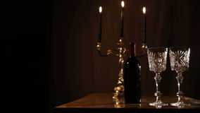Romantic evening with wine. stock video