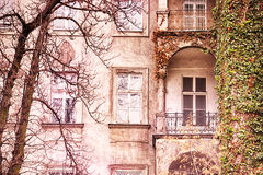 A romantic facade with balconies Stock Photo