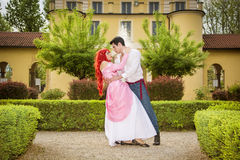 Romantic Fairy Tale Couple Dancing in Beautiful Stock Images