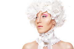 Romantic fairytale bride. Wedding gentle make-up Royalty Free Stock Image