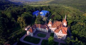 Romantic fairytale mansion in the French style. Shenborn Castle is a romantic mansion, located in the West Transcarpathian region in Ukraine. It is one of the stock video