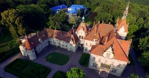 Romantic fairytale mansion in the French style stock video footage