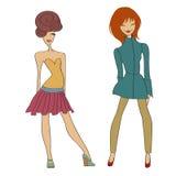 Romantic fashion girls Stock Photo