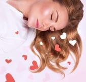 Romantic fashion model Royalty Free Stock Photos