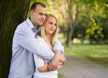 Romantic fashionable young couple. Royalty Free Stock Photos