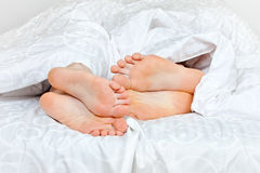 Romantic feets Stock Image