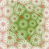 Romantic fine abstract background with white outline floral motif Royalty Free Stock Photos