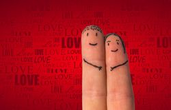 Romantic fingers fall in love Royalty Free Stock Photography