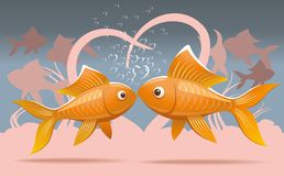 Romantic fish Stock Photo