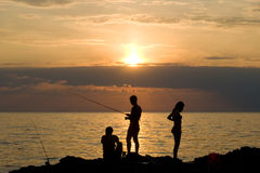Romantic fishing Stock Photography