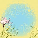 Romantic floral background Royalty Free Stock Images