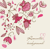 Romantic floral background. In pink Royalty Free Stock Image