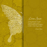 Romantic floral background with butterfly and place for your text.  Royalty Free Stock Photos