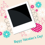 Romantic floral background with photo Royalty Free Stock Image