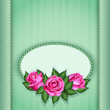 Romantic floral background with pink roses flowers. Vector eps10 Stock Photography